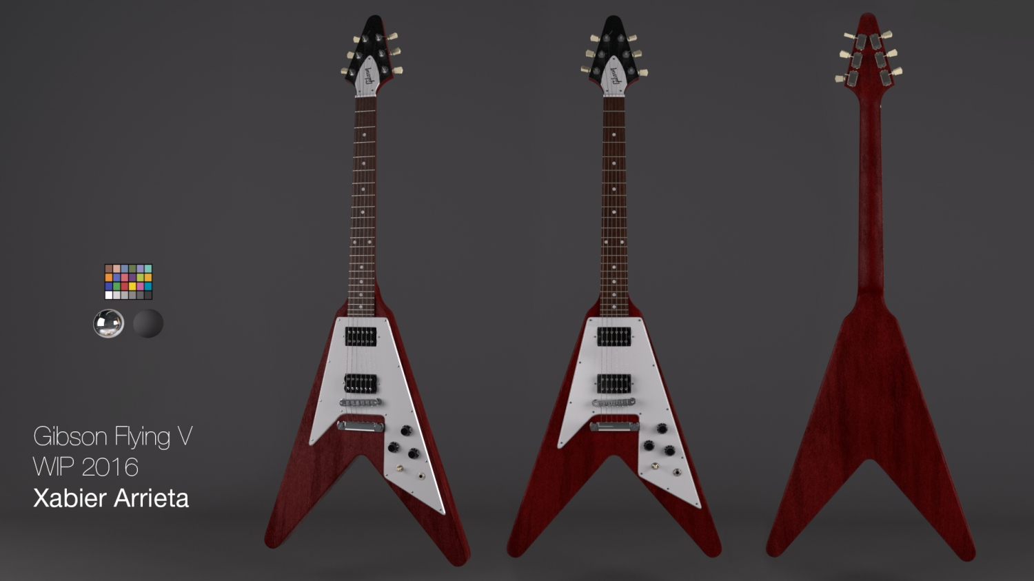Gibson Flying V texturing process